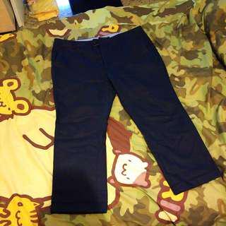 Navy 9分吊腳褲