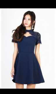 BN MGP Navy lace dress