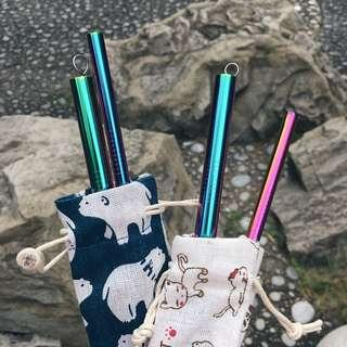 Unicorn Rainbow Straw Set (Blunt End)