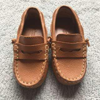 Zippy Leather Shoes Chocolate