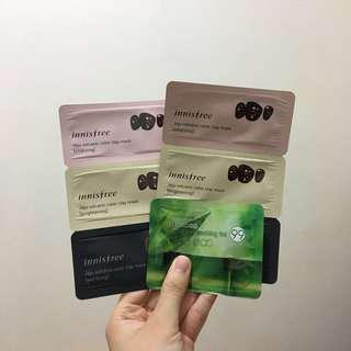 Innisfree Jeju Volcanic Color Clay Mask 2 set