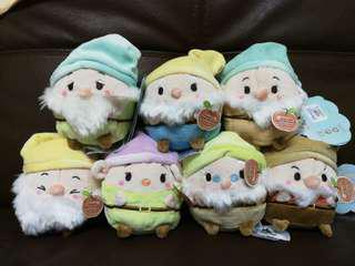 Disney ufufy 七個小矮人公仔