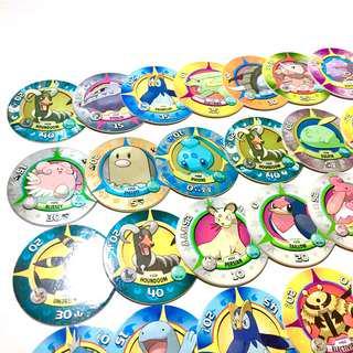 中古 42張 寵物小精靈 圓形遊戲卡