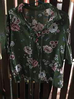 Tied Up: floral blouse