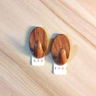 Wooden Adhesive Hooks