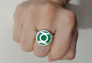 Green Lantern power ring stainless steel size 8 DC licensed product