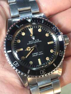 勞力士 Rolex Submariner 5513 Maxi 3 期面 6M 5512 1680 1665 1655