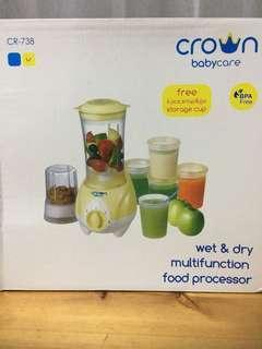 Crown wet n dry multifunction food processor