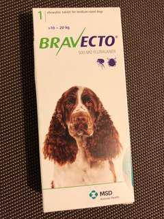 Bravecto Medium Dog (10-20kgs) Green Tablet