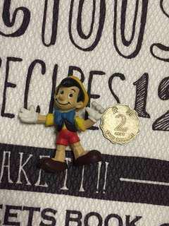 絕版 經典 扭蛋食玩 迪士尼 Disney 木偶奇遇機 木偶 擺件 稀有 值得珍藏