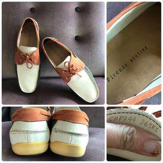 🚚 原價約8000 近新真品FIRENZE ATELIER Men's Loafers & Slip-ons樂福 休閒鞋