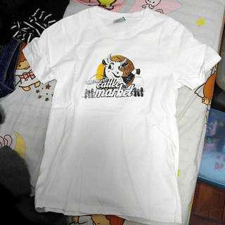 🌟 最後清屋 ! 包平郵 ! 新淨 牛牛 白色 上衣 T恤 Tee Shirt