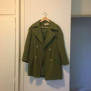 Green vintage coat