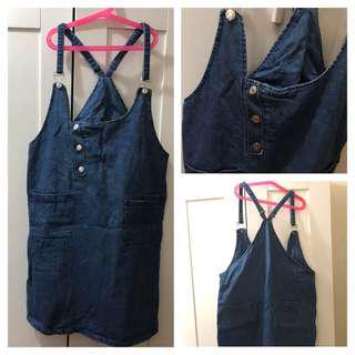 (Used)Denim Pinafore 牛仔連身裙