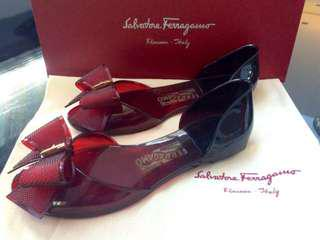 Authentic Ferragamo Barbados Jelly Shoes