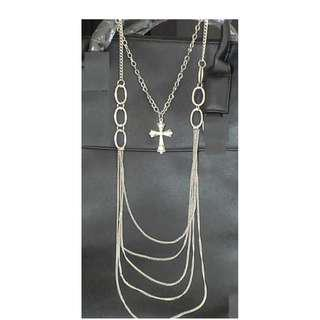 New Silver Cross Gothic Chain Necklace
