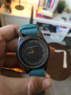 Jam tangan Woodka 42mm coklat