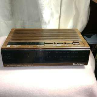 Vintage Clock Radio National