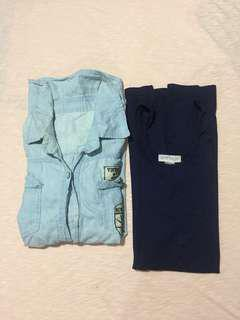 Denim Longsleeve Polo + Free F21 Dress