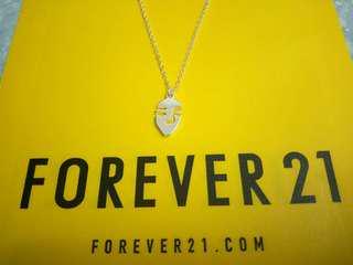 免費-Forever 21 銀色頸鏈