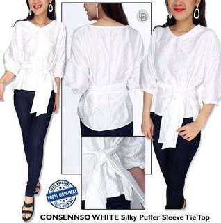 Consenso white silky top