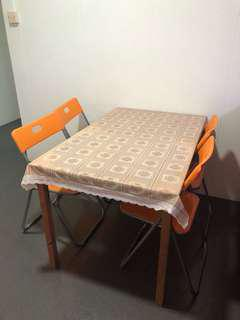 Dining table with chairs set