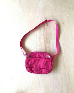 Sling bag the nort face pink
