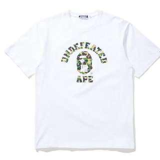 Bape X Undefeated ABC College Tee
