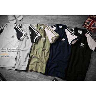🚚 adidas Originals California Raglan Sleeve T-Shirt
