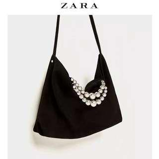 🆕 Zara Split Suede Tote Bag