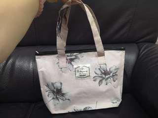 大碎花手袋 手提包 flower bag handbag
