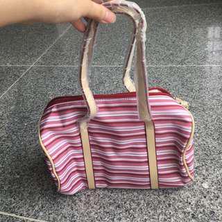 Barrel Red Strip Bag