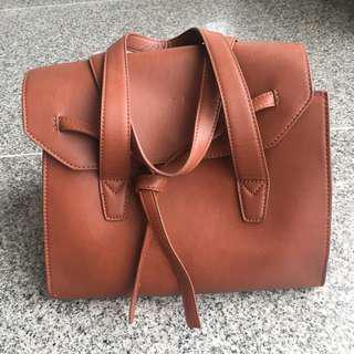 MANGO Brown Large Bag