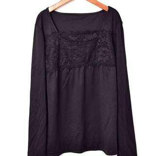 🆕上衣 打底衫 黑色打底衫 蕾絲 lace top