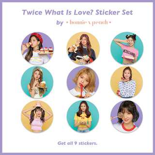 Twice What Is Love Sticker Set