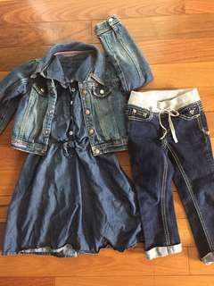 Girls Denim Collection Size 5/6