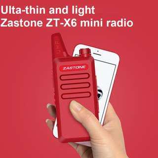 🚚 New stock, Zastone X6 (same as WLN KD-C1) New model, military grade! Mini UHF 400-470 MHz Handheld Transceiver Two Way Ham Radio HF Communicator Walkie Talkie *RED* Export Set for Thailand