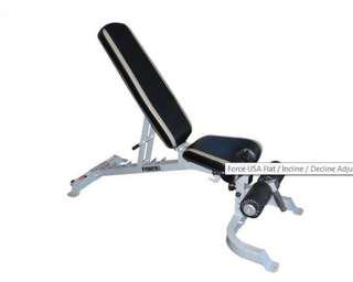 F-Fid Force USA Flat Incline/Decline Adjustable Bench