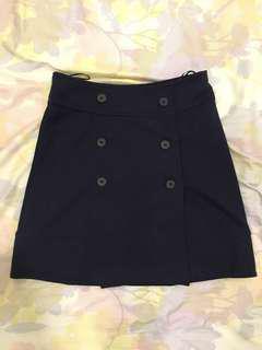 Nautical wrap skirt