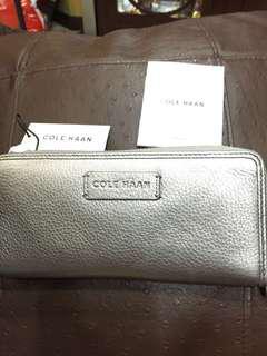 Cole Haan silver long wallet