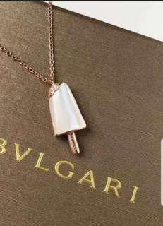 Bvlgari Mother of pearl ice cream necklace