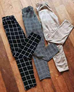 Sale!!Checkered pants