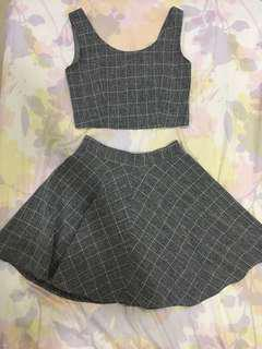 Crop top and skirt set