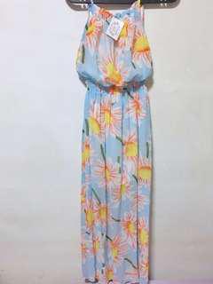 Summer Spag Maxi Floral Dress