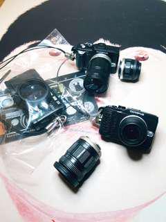 經典相機扭蛋 3個不散賣 Ricoh GR1 萬花筒濾鏡 Olympus 可換長短鏡頭