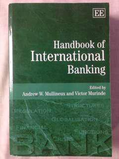 Handbook of International Banking - Textbook on Banking and Economics