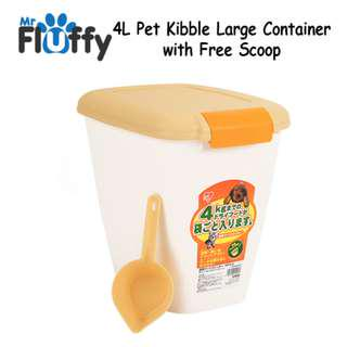 4L Pet Kibble Large Container with Free Scoo