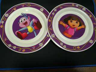 2 Dora Plates ~ Clearance Sales