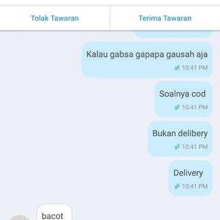 Bedakan antara COD dan Delivery
