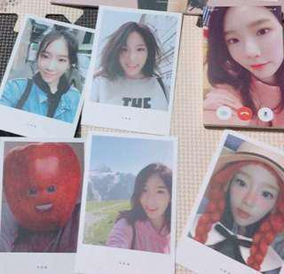 Taeyeon TFU - Polaroid Cards.